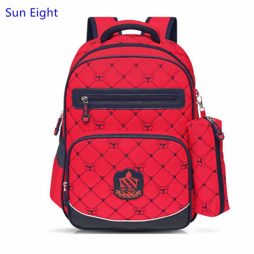 Sun Eight red plaid school bags for girls boys school backpack girl schoolbag kids bookbag pen bag school supplies wholesale<br><br>Aliexpress
