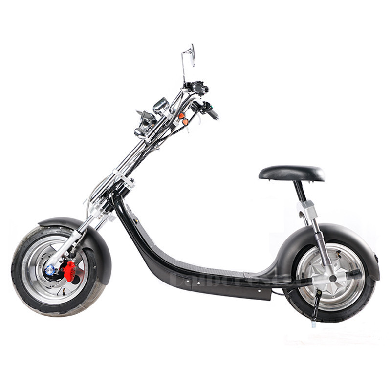 Electric Scooter Citycoco Two Wheels Electric Scooters Big Wheels 60V 1000W Harley Electric Scooter With Seat (9)