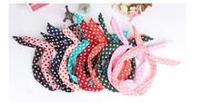100pieces/lot! 2017 Fashion Hair band dot hair rope Accessories for girls Rabbit Ears headband mix colors
