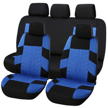 SHAKAR  Car Seat Covers Embroidery Universal Fit Most Cars Covers with Tire Track Detail Styling Car Seat Protector