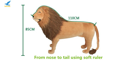 Fancytrader 43\'\' Giant Plush Stuffed Simulation Lifelike Lion King Simba Can be Rided by Kids Great Gift FT90284 (17)