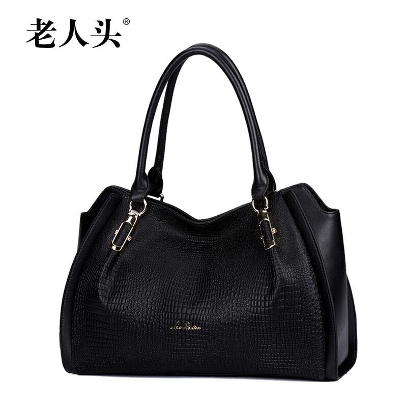 High quality genuine leather women bag QIWANG famous brands fashion women handbags shoulder messenger bag cowhide Killer bag<br><br>Aliexpress