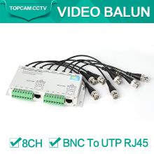 SURGE 8 Channel Active Passive Video Balun Rohs Transmitter Receiver 8CH UTP Cat5 RJ45 Support 720P/1080P HDCVI/AHD/TVI Camera