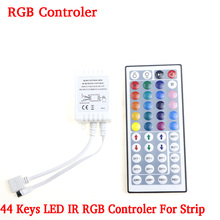 44 Keys LED IR RGB Controler For RGB SMD 3528 5050 Strip LED Lights Controller IR Remote Dimmer Input DC12V 6A free shipping(China)