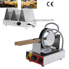 Free Shipping Commercial Electric Rotating Egg Waffle Maker Bubble Waffle and Warmer Displayer