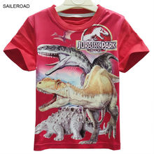 SAILEROAD 4-11Years Summer children kids baby boys t shirt Cartoon Dinosaur Teenager Girls Tops Tees Shorts T-Shirts