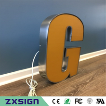Factory Outlet Outdoor front lit LED Acrylic signage, luminous acrylic led store sign words, shop front lighted up name signs(China)