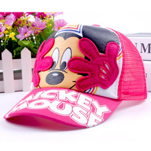 New Arrival Baby Hats for Boys & Girls Cartoon Mouse Baseball Caps Summer Kids Hat Casual Children Sun Caps for 2-6 Yesr HAT17