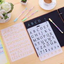 DIY New Digital Alphabet Decoration Tools Digital Stencil Template Drawing Board(China)
