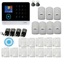 Home Security System Wireless Wifi GSM Remote Control Intelligent Voice Prompt WiFi Burglar Alarm House Business Auto Dial