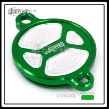 CNC Billet Green Aluminum Oil Filter Cover Cap For KXF KX250F 2005-2016 06 07 08 09 10 11 12 13 14 15 Motorcycle Dirt Bike