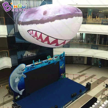 Shopping mall decorative 8m giant inflatable shark head decoration figure model-inflatable toy(China)