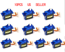 2016 New 10pcs SG90 Micro Servo motor 9g For RC 250 450 For RC Robot Airplane Helicopter Car Boat Free Shipping(China)
