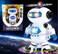 Ailin Electric music dancing robot with light Boys and girls children electric toy gift Christmas New Year Action Toy Figures(China)