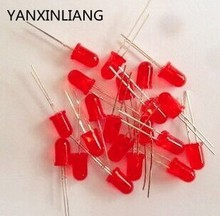 1000pcs/lot 5mm red LED light emitting diode / F5 LED red color(China)