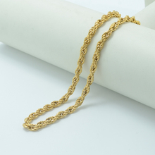 Anniyo 100cm/80cm/50cm Twisted Chain Necklace for Men/Women Gold Color Wholesale Cheap Necklaces Long #004506
