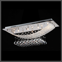 Fashion LED Rectangle Ceiling Light K9 Crystal Balls For Dining Room Bedroom Lighting ceiling Light fixture kitchen lamp G4 bulb