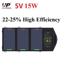 ALLPOWERS 15W 5V Sunpower Solar Charger Panel Battery Dual USB Port for iPhone 6s  6 Plus iPad Air mini, Galaxy S6 and More