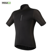 WOSAWE New Men's Cycling Jersey Comfortable Bike / Bicycle Shirt Black White Quick-dry SportsWear Short Sleeve Cycling Clothing
