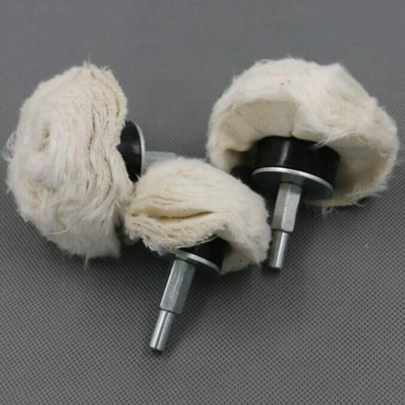 2''/3''/4'' Cotton Dome Polishing Buffing Wheel Drill 1/4'' Shank Brush Wheel for Abrasive Polishing Wheel
