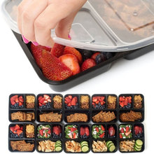 3 Compartment Food Storage Containers Meal Lunch Box Picnic Microwave Safe