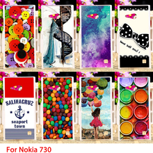 Soft TPU Cases For Nokia Lumia 730 N730 735 4.7 inch Colorful Painted Hard Cell Phone Cover Housings Bags Sheaths Skins Hoods
