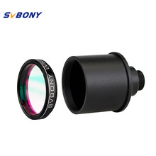 SVBONY 1.25'' UV/IR Filter Cut Block Astronomy Telescope Infra Red Filter CCD Camera+Webcam Adapter for Monocula Telescope F9127