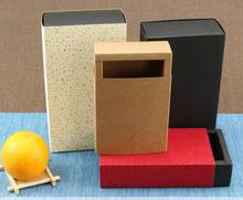 25.2*15.2*6.2cm Large Kraft peper packaging cardboard box,black packaging drawer gift box,black paper drawer carton box