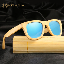 KITHDIA Men Or Women Polarized Bamboo Wooden Sunglasses Brand Designer Mirror Original Goggles feminino oculos de sol masculino(China)