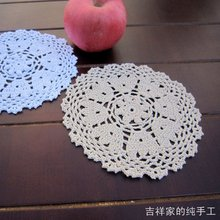 2015 new arrival 12 pic/lot cotton crochet lace coasters vase mat table cup pad placemats for dinning table felt for home decor