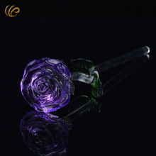 Purple Crystal Rose Gifts for The New Year 2017 Romantic Flowers Unique Home Decoration Lover's Flowers To Girlfriend(China)