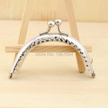 Free Shipping PA000 20pcs Blank Purse Frame Hanger 8.5cm Silver Metal Clasps Purses Accessories Handles Handbags Diy Bag Parts