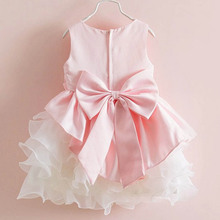 Newest Lovely Kids Girls Bowknot Tulle Dress for Prom Party Princess Ball Gown Baby Formal Dress