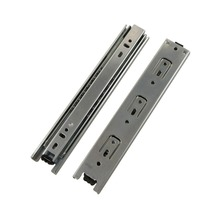 2pcs 11inch Length Drawer Slides Rail 38mm Width Cold-Rolled Steel Fold Telescopic Ball Bearing Cabinet Drawer Sliding Runner