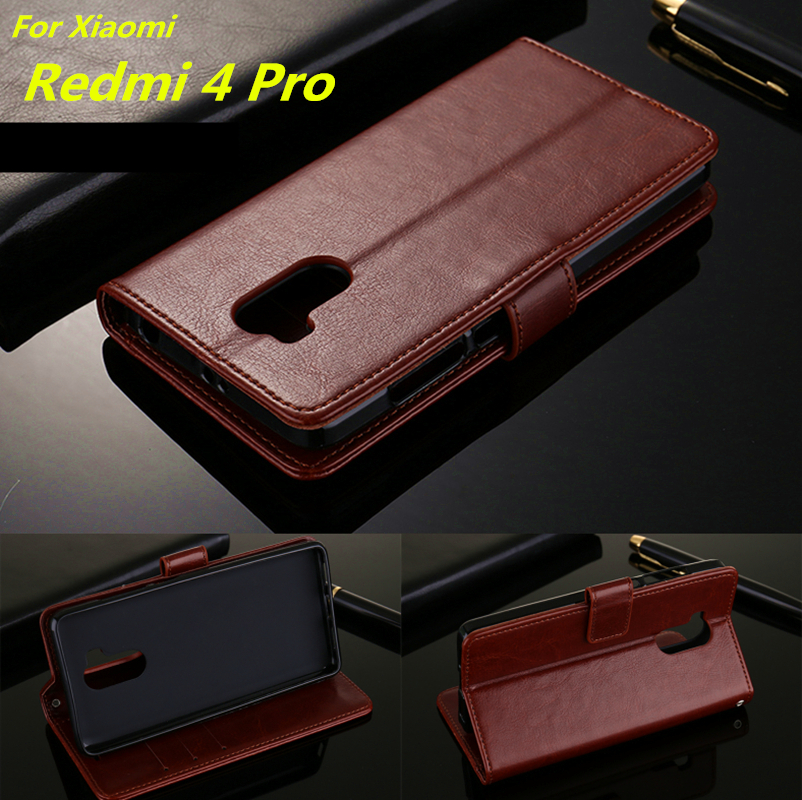 Fundas Xiaomi Redmi 4 Pro card holder cover case for Xiaomi Redmi 4 Prime Pu leather phone case ultra thin wallet flip cover(China)
