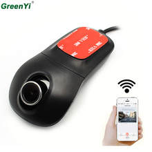 GreenYi Car Dash Cam with Wifi Car DVR Camera APP Support IOS/Android System Recorder 170 Degree Super Wide Angle Loop Recording