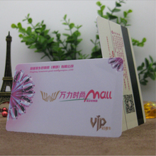 50Pcs 85.5*54*0.76mm Wholesale offset printing magnetic stripe PVC Card/membership VIP gift card with your fashion design(China)