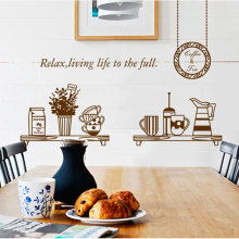 Removable wall stickers pleasant life Kitchen Restaurant Table Background wall stickers Kitchen decoration Poster wallpaper