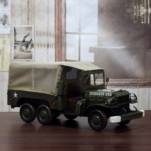 Classic Ironwork Military Dodge Transport Truck Collection Showcase Craftwork Handmade US Minitary Truck Model