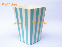 12pcs/lot Stripe Paper Mini Popcorn Boxes Candy Box Small Snack Case Birthday Party Popcorn Boxes Bag for Party Favor