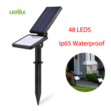 LEDGLE 1.6W Ip65 Waterproof 48LED Super Bright Sensor Lights Induction Outdoor Solar Lawn Light Wall Lamp Flood Light(China)