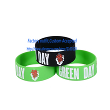 1PC GREEN DAY / Silicone bracelet/1 inch Silicone wrist band/ BRACELET/ mix order welcome