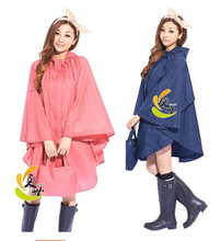 Fashion cute raincoat women trench  waterproof Rain Poncho Coat Jackets Female Chubasqueros Impermeables Mujer