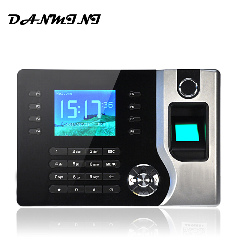 DANMINI AC071 Biometric Fingerprint Time Clock Payroll Recorder Attendance Digital Electronic Reader Machine Office Support ID