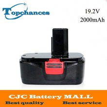 High Quality New 19.2V 2000mAh Black Ni-CD Replacement Power Tools Battery for Craftsman DieHard C3, 11375, 130279005(China)