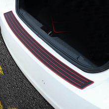 2017 New Design Black Red For Jeep Commander Compass Grand Cherokee Liberty Patriot Car Rear Guard Bumper Protector Trim Covers(China)