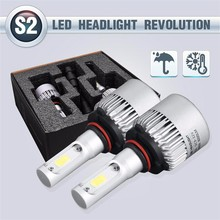 1 pair S2 H1 H3 H7 H11 H8 H9 H4 H13 9004 9007 COB LED Car Headlight Bulb Hi-Lo Beam 72W 8000LM 6500K Auto Headlamp 12v 24v(China)
