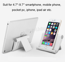 Foldable Universal Tablet PC Holder Mobile Phone Stand Portable Adjusting Smartphone ipad Support Stand(China)