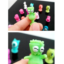 HEY FUNNY 20pcs/lot Stikeezse Kids Child Cartoon Ocean Animal Action Figures Toys Mini Monster Sucker Suction Cup Capsule Models