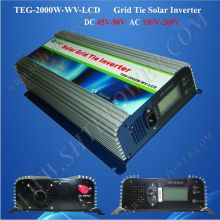dc 45-90v to ac 190-260v mppt grid tie inverter solar 2000w with lcd